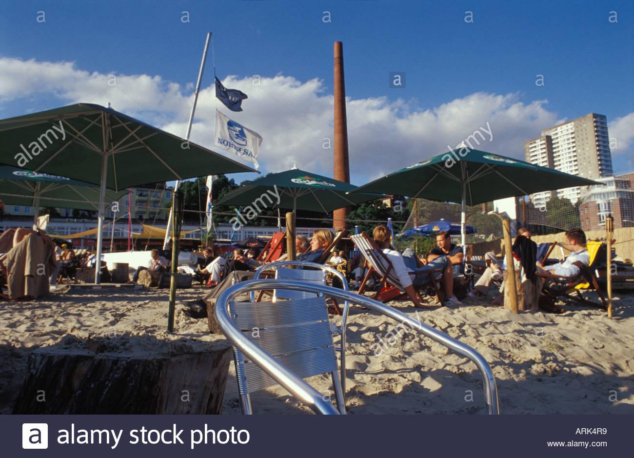 hamburg del mar - beach club with restaurant and mediterranean