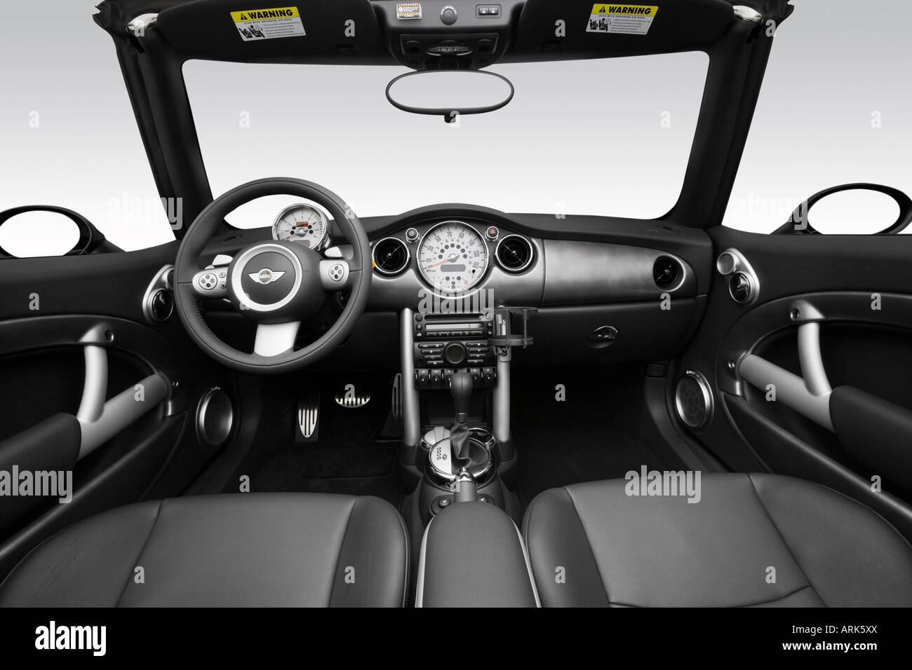 2008 mini cooper s in silver dashboard center console gear stock photo 16074001 alamy. Black Bedroom Furniture Sets. Home Design Ideas