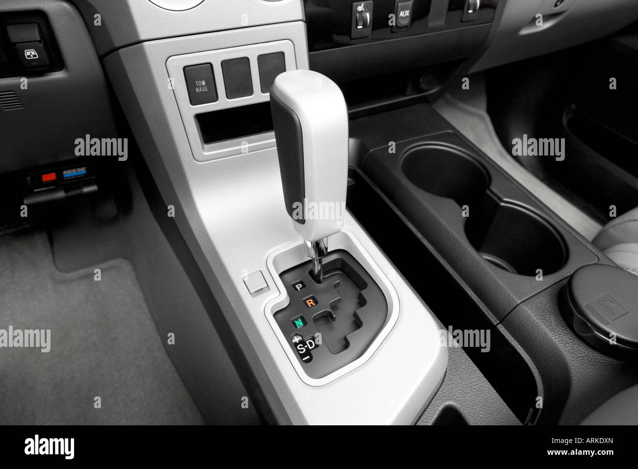2008 Toyota Tacoma 4x4 >> 2008 Toyota Tundra Limited in Silver - Gear shifter/center console Stock Photo, Royalty Free ...