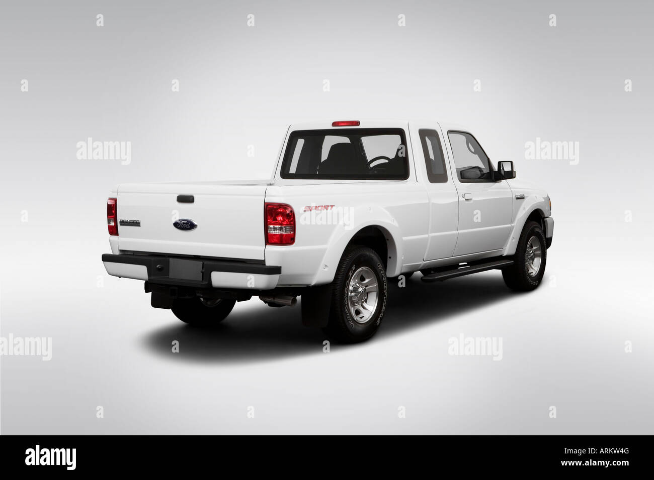 2008 ford ranger sport in white rear angle view