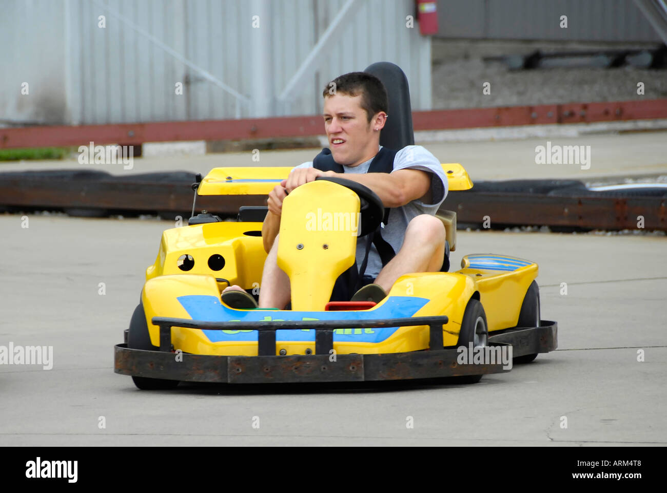 Driving Mini Race Cars For Fun At Cedar Point Amusement Park At