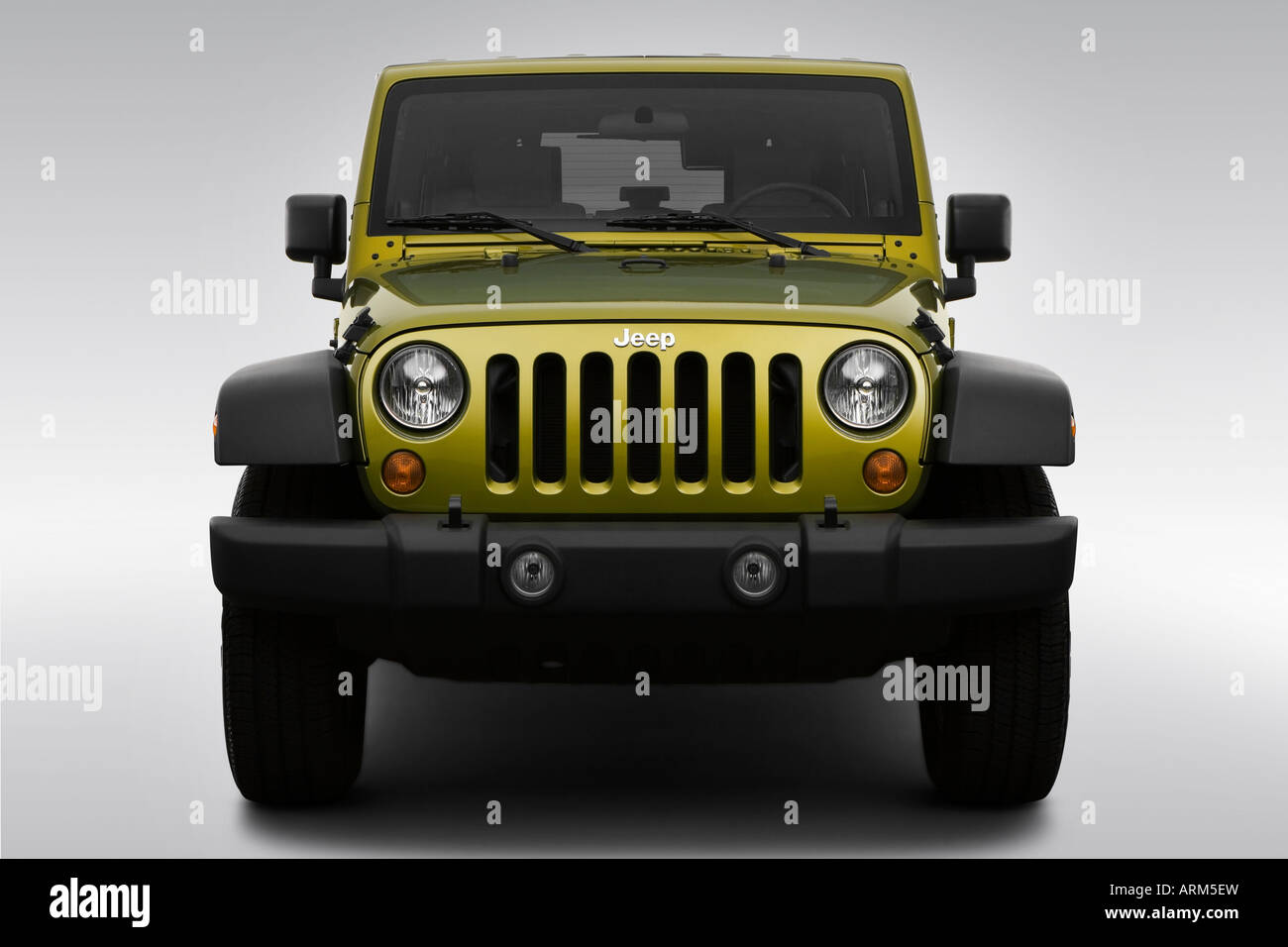 2008 jeep wrangler unlimited x in green - low/wide front stock