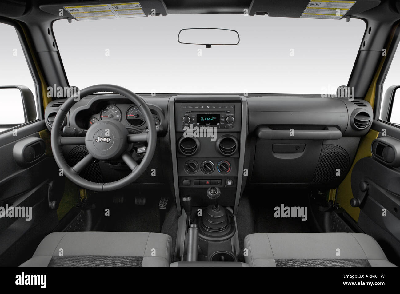 2008 jeep wrangler unlimited x in green - dashboard, center