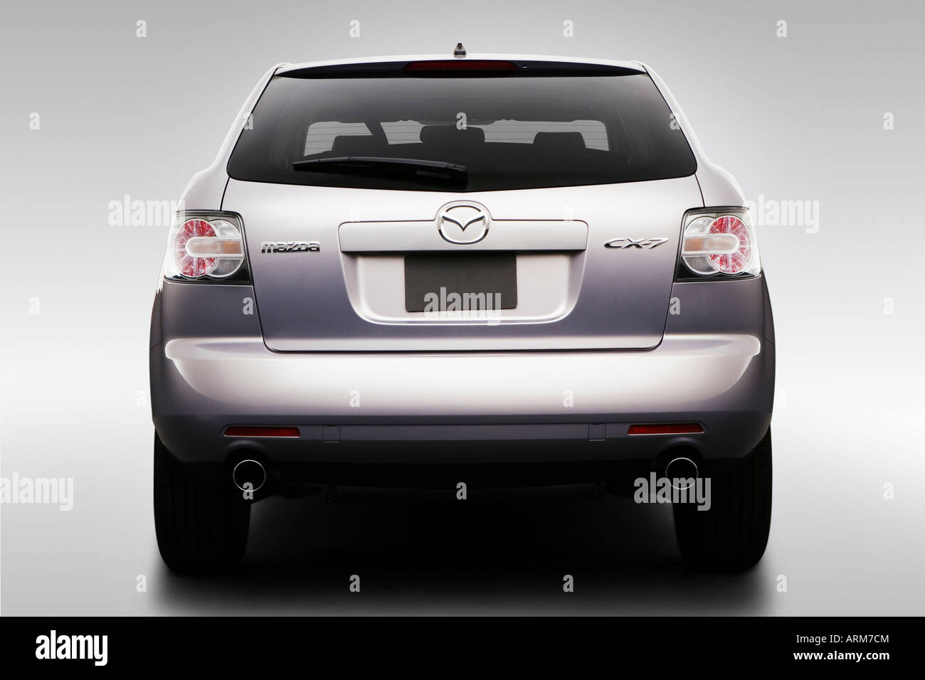 2008 mazda cx-7 touring in beige - low/wide rear stock photo