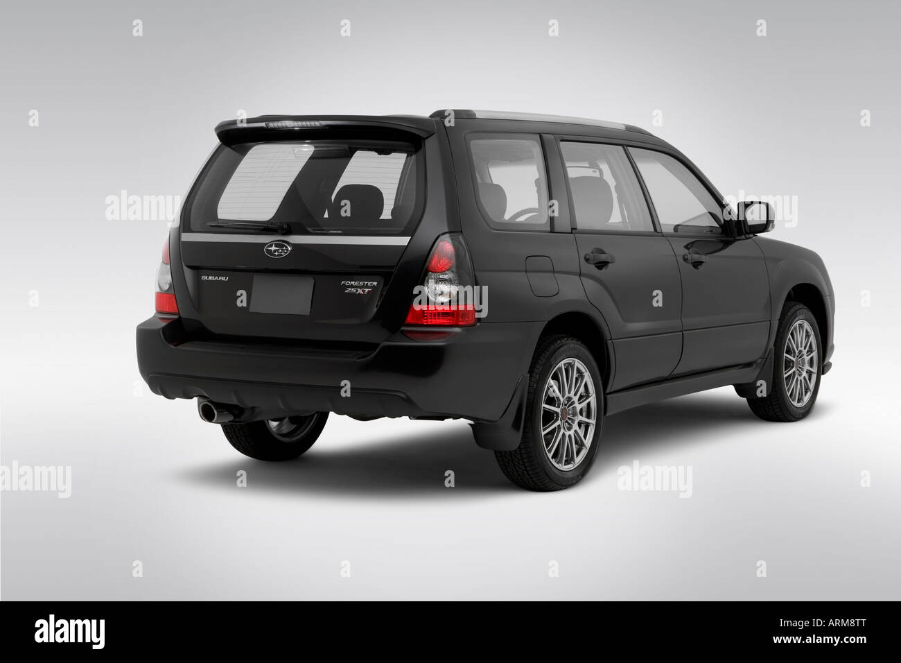 2008 subaru forester sports 25 xt in gray rear angle view stock 2008 subaru forester sports 25 xt in gray rear angle view vanachro Images