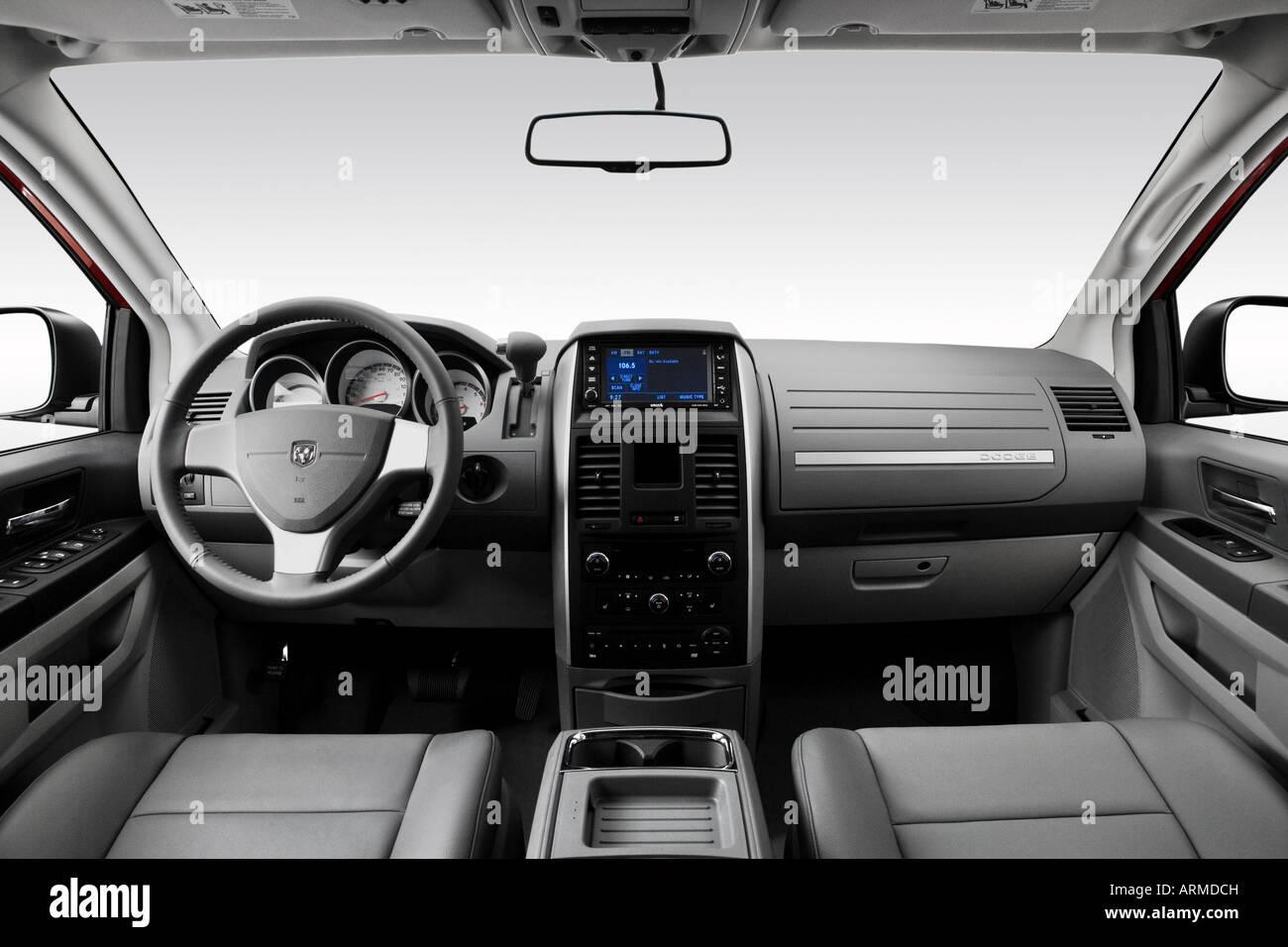 2008 dodge grand caravan sxt in red dashboard center console gear shifter view