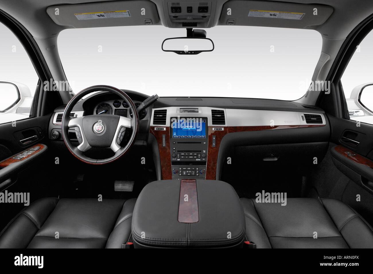 2008 cadillac escalade esv in white dashboard center console gear shifter view