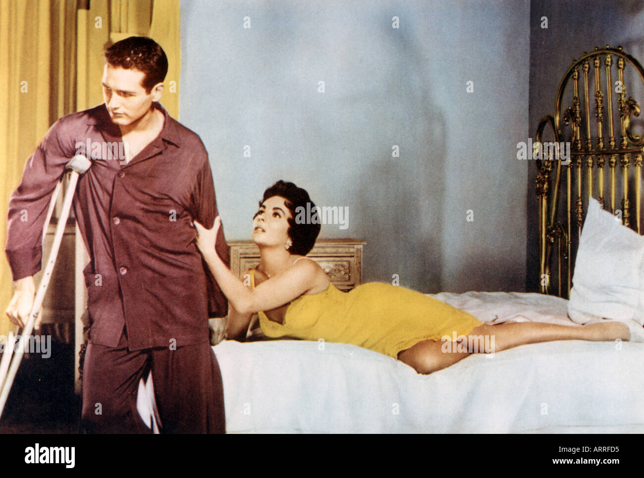 CAT ON A HOT TIN ROOF 1958 Film With Paul Newman And Elizabeth Taylor    Stock