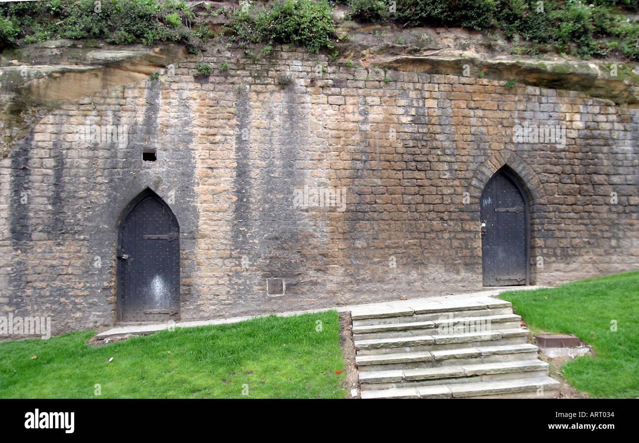 Nottingham Castle Nottingham Doors in the wall of the old castle & Nottingham Castle Nottingham Doors in the wall of the old castle ... Pezcame.Com