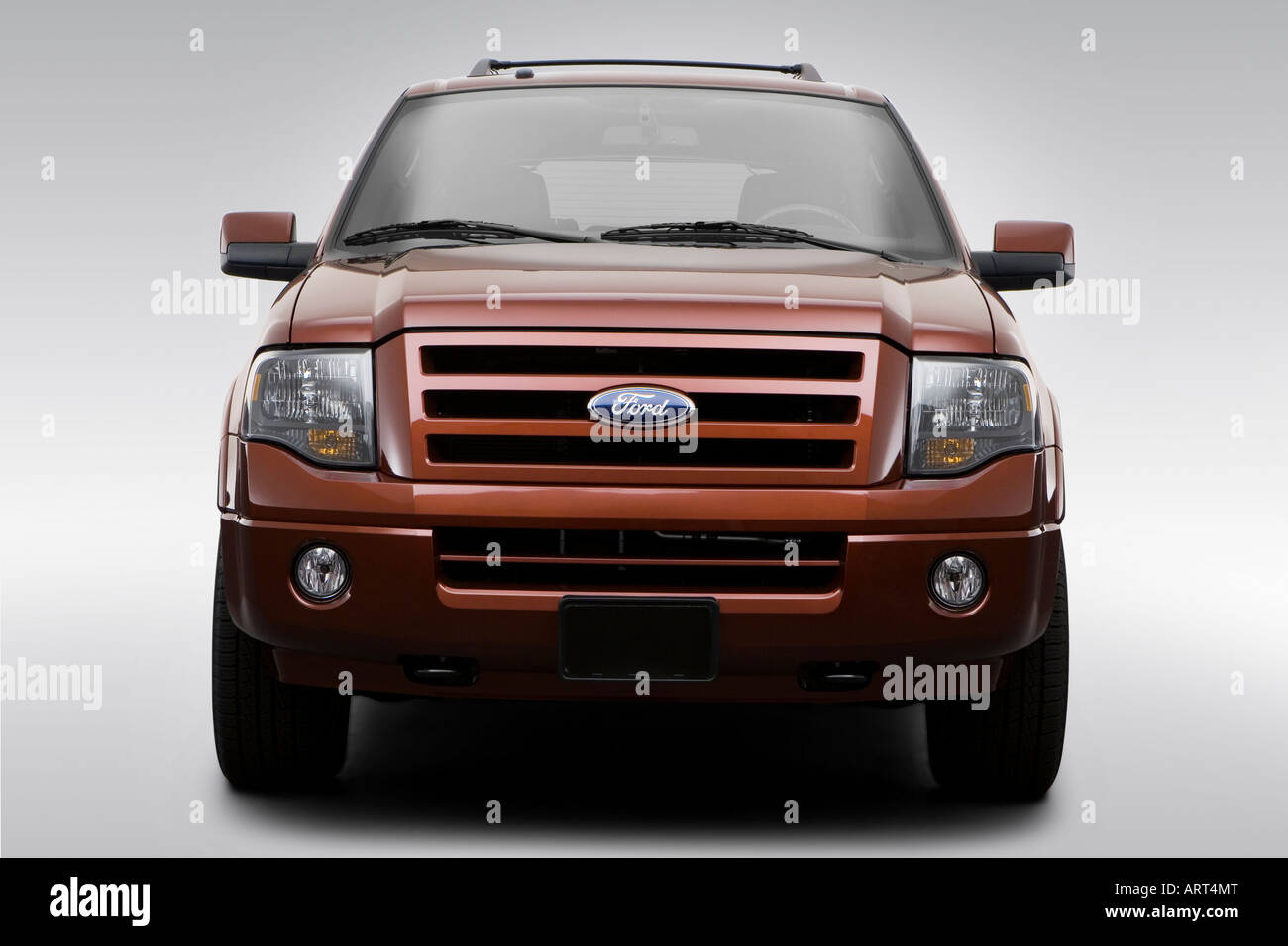 2008 ford expedition el limited in orange low wide front stock photo royalty free image. Black Bedroom Furniture Sets. Home Design Ideas