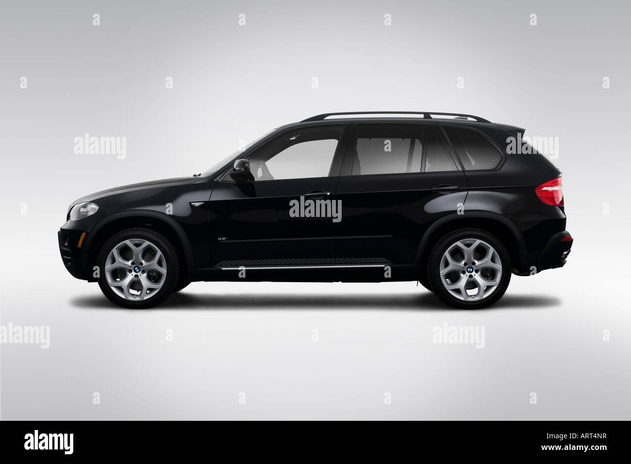 All Types 2008 x5 : 2008 BMW X5 4.8i in Black - Drivers Side Profile Stock Photo ...
