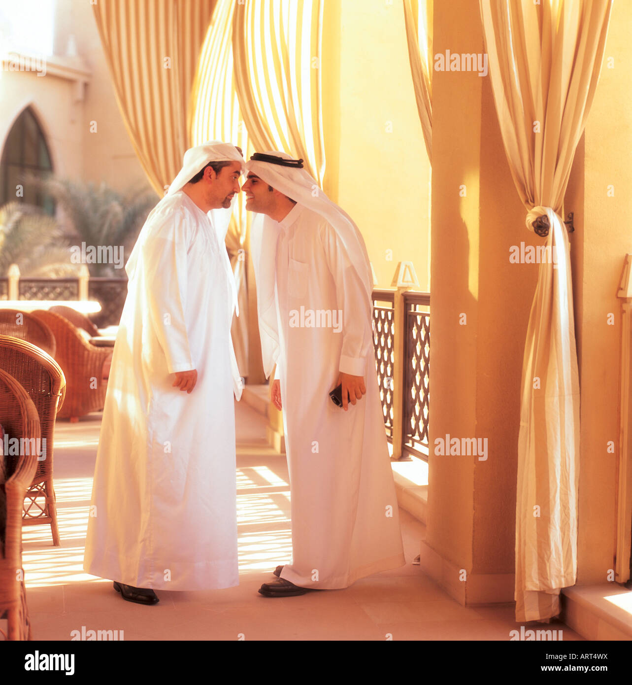 Arab men rubbing their noses traditional greeting stock photo arab men rubbing their noses traditional greeting kristyandbryce Choice Image