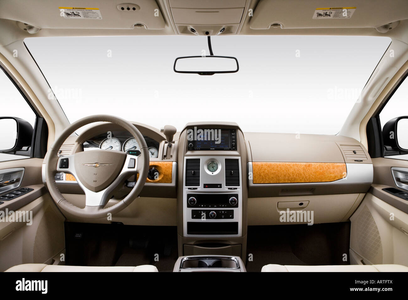 2008 chrysler town country limited in beige dashboard center stock photo 16124377 alamy. Black Bedroom Furniture Sets. Home Design Ideas
