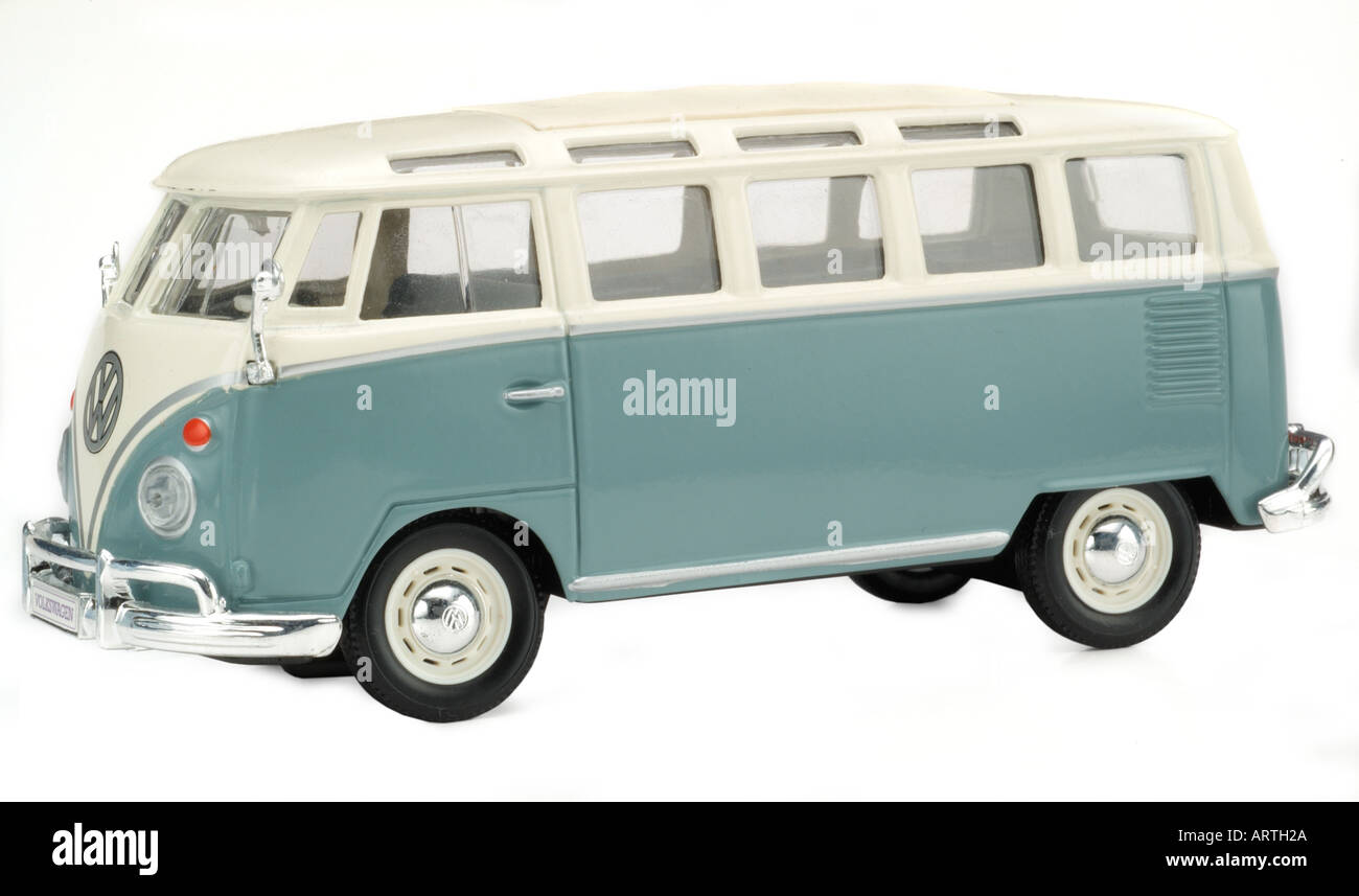 Vw camper van toy model stock image