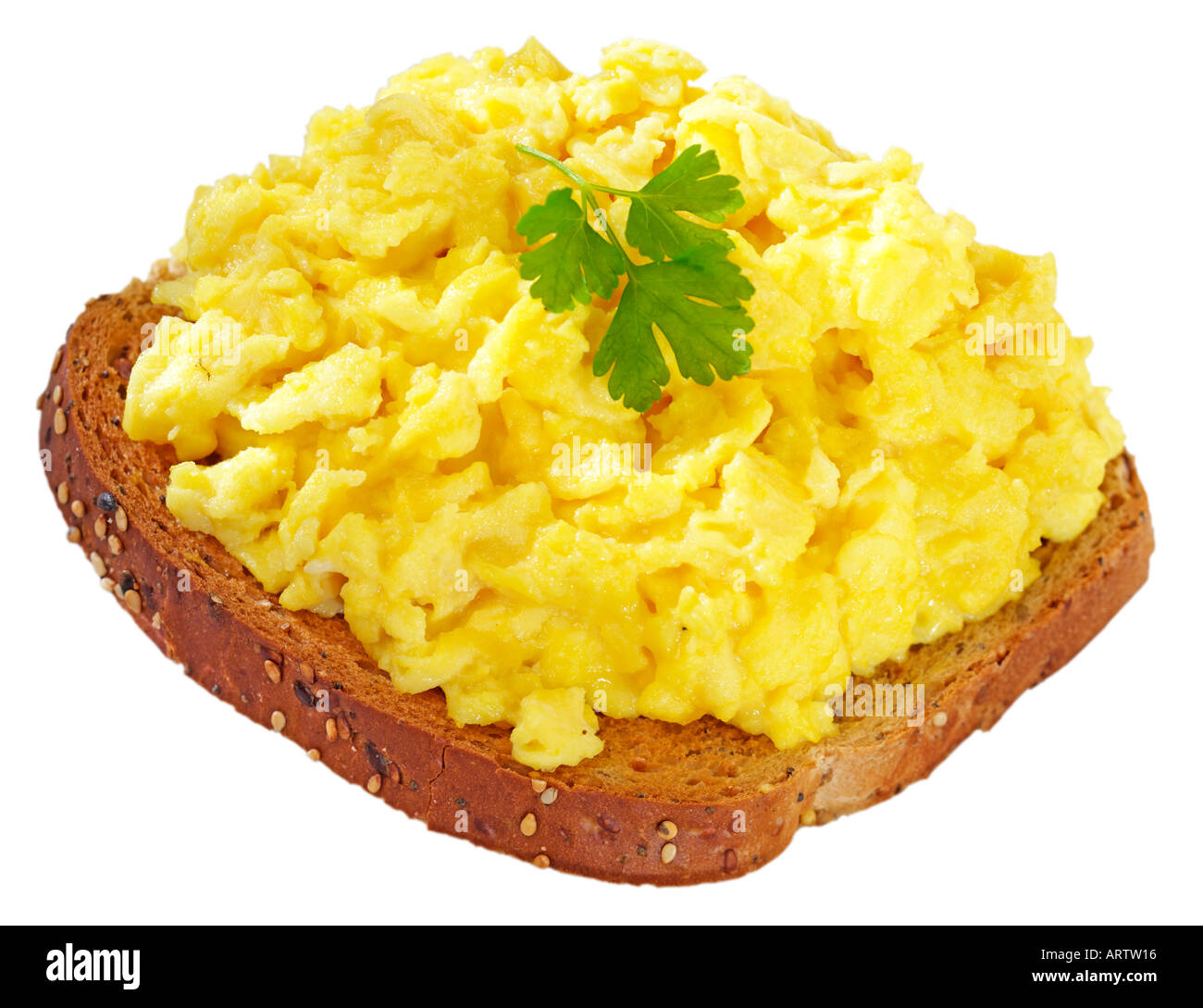 SCRAMBLED EGGS ON TOAST CUT OUT Stock Photo, Royalty Free ...