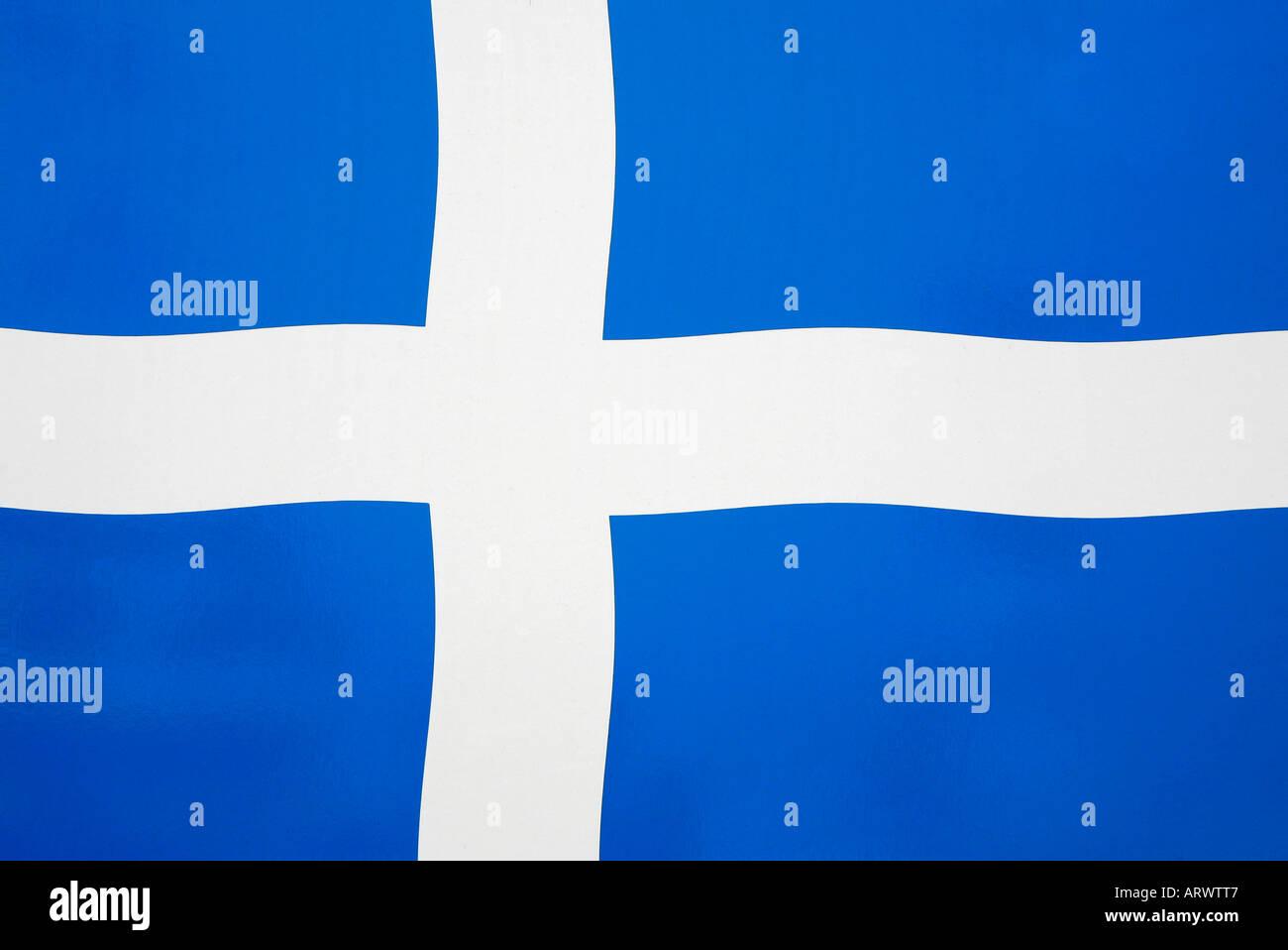 shetland flag scotland blue white cross independent stock