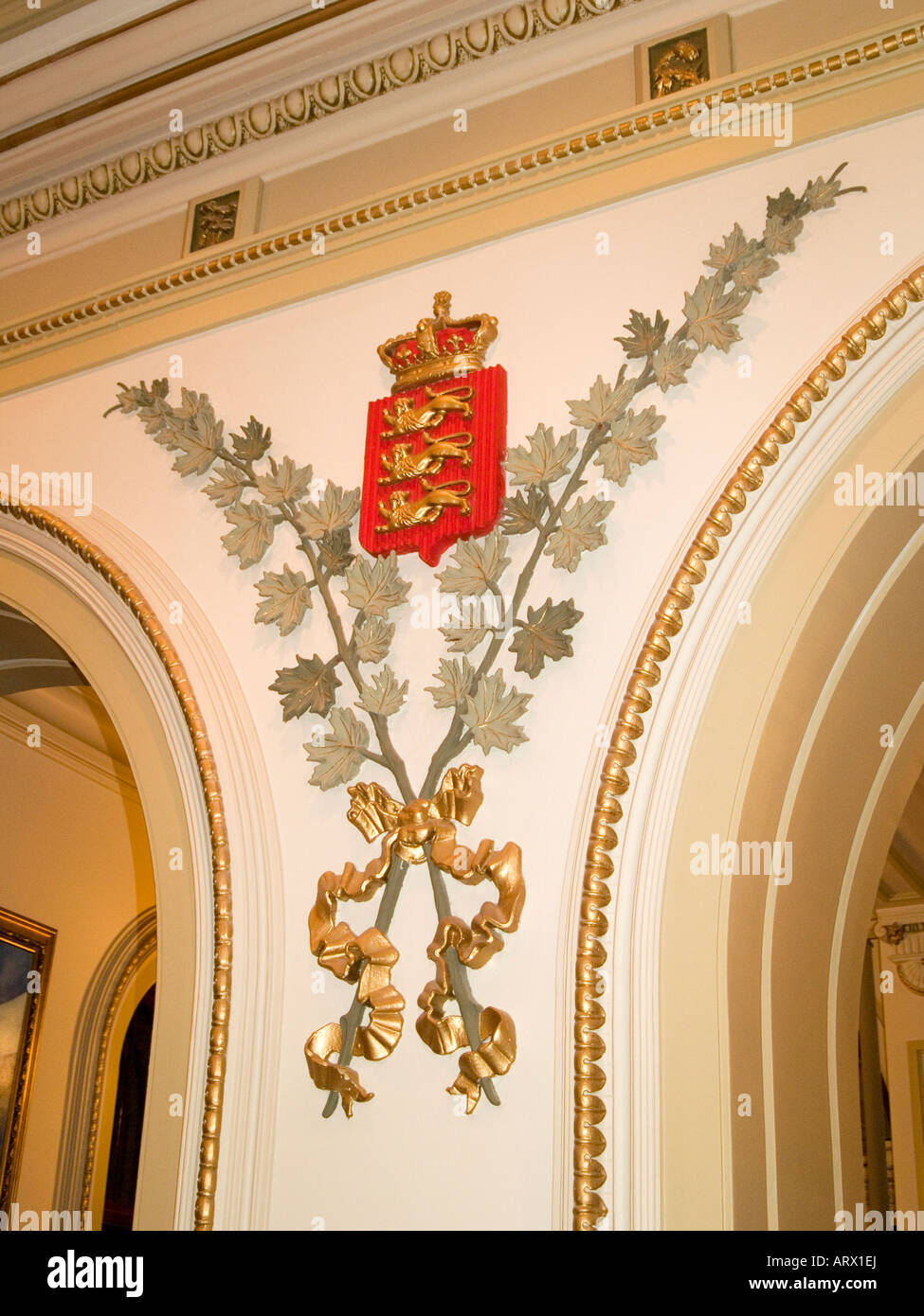 Perfect The English Coat Of Arms On The Wall Inside The Assemblee Nationale On  Grande Allee In Quebec City, Canada
