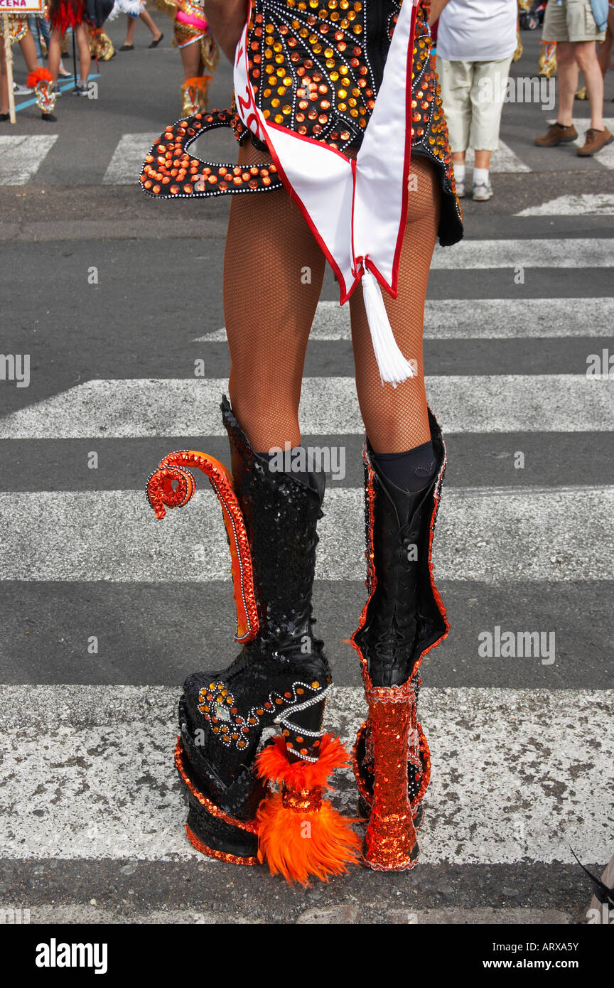 Drag queen in platform boots at carnival on gran canaria - Standing canarias ...