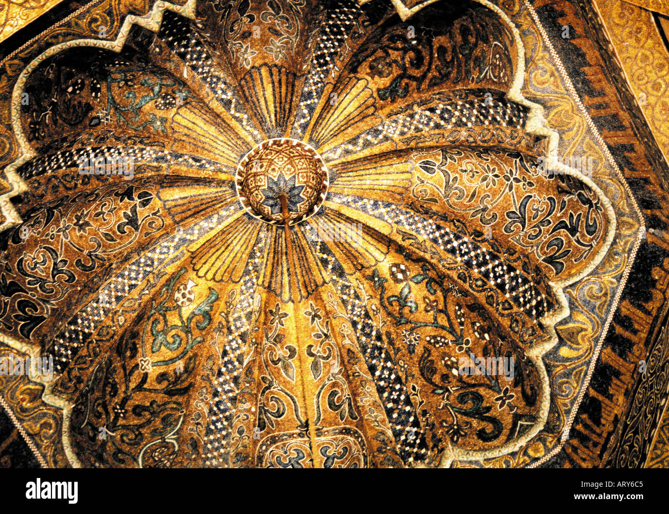 Mosque Detail: Spain Cordoba Detail Of A Ceiling In The Great Mosque Of