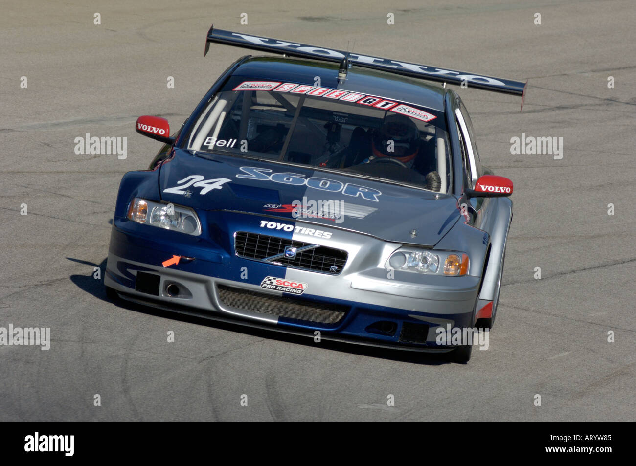 Mid Ohio Sportscar Course >> Derek Bell races his Volvo S60 R at the Speed World Challenge GT race Stock Photo, Royalty Free ...