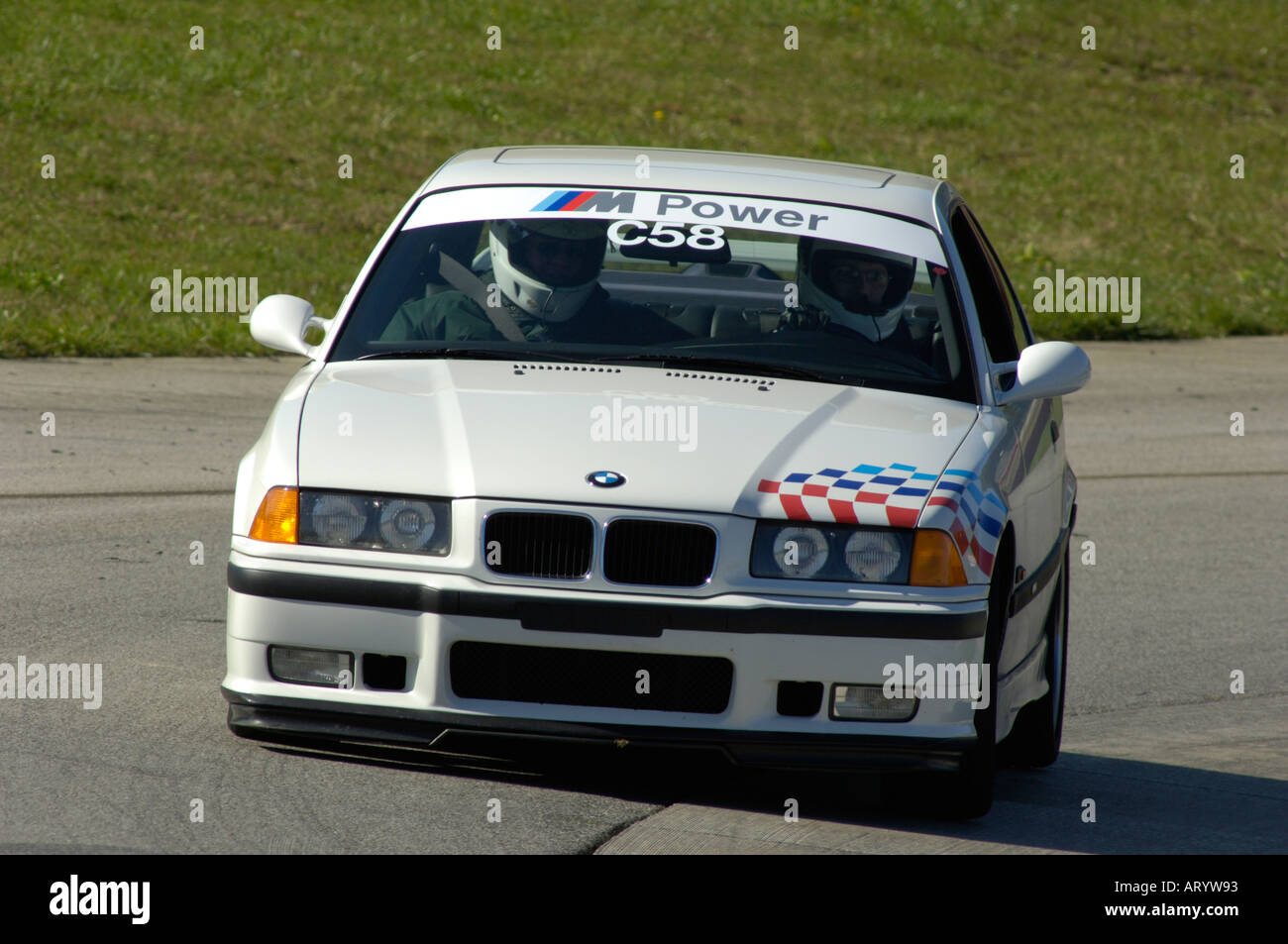 James logan drives his bmw m3 at a bmw car club of america driving school at mid ohio 2005