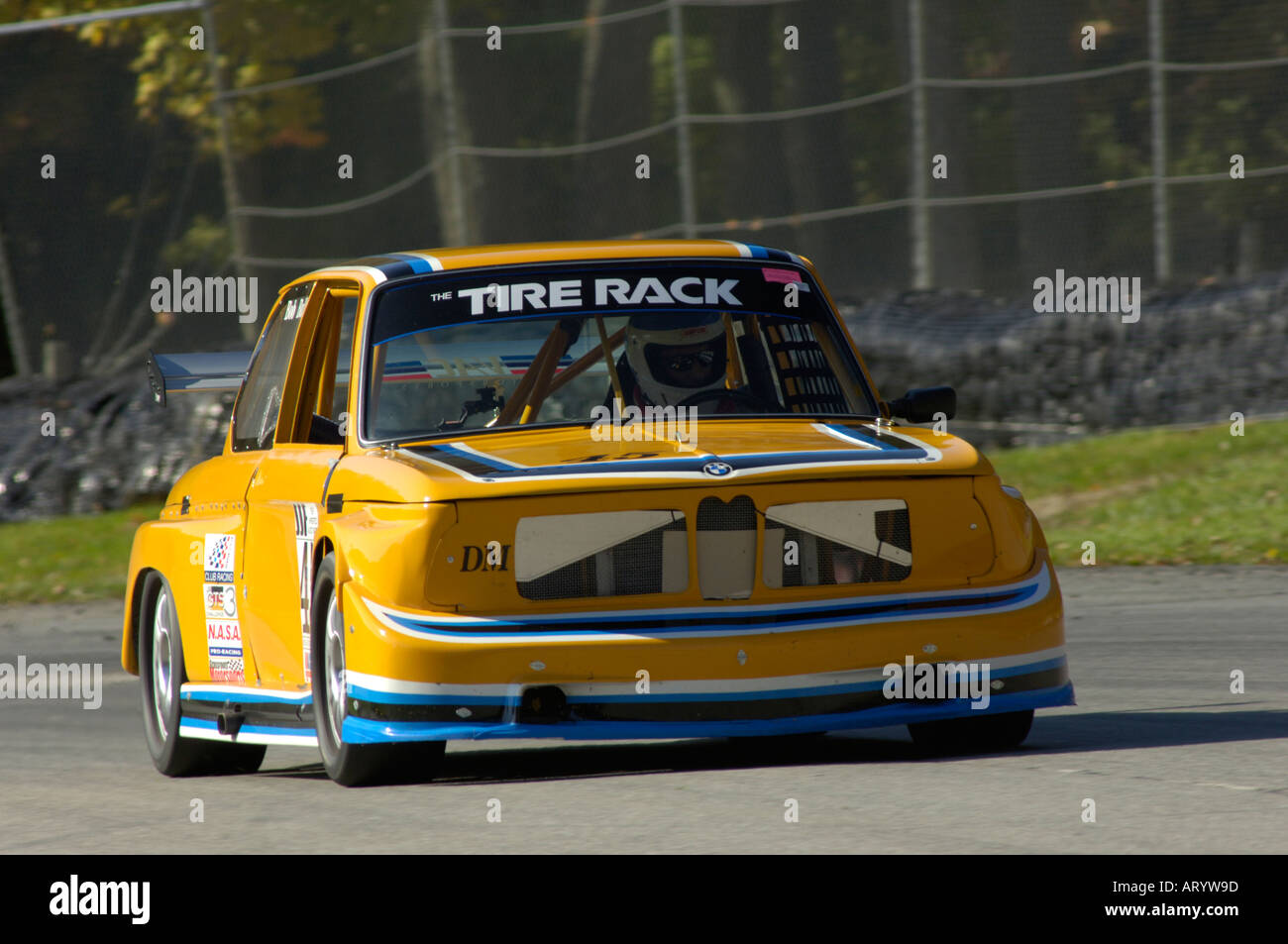Bmw 2002 Tii Race Car >> Bob Ball races his 1974 BMW 2002 Tii at a BMW Car Club of America Stock Photo, Royalty Free ...