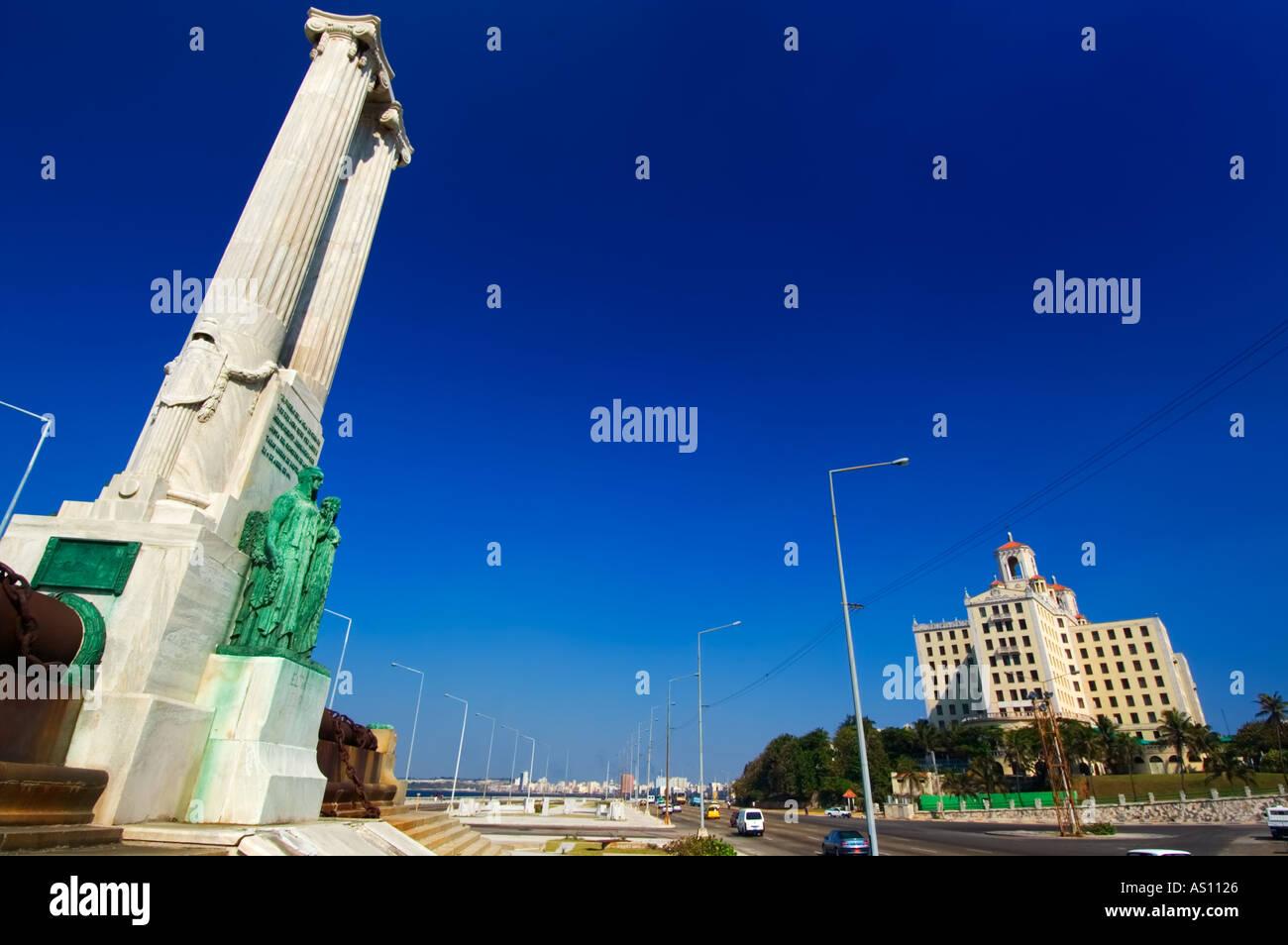 Memorial a las victimas del maine hotel nacional vedado havana la habana cuba greater antilles caribbean