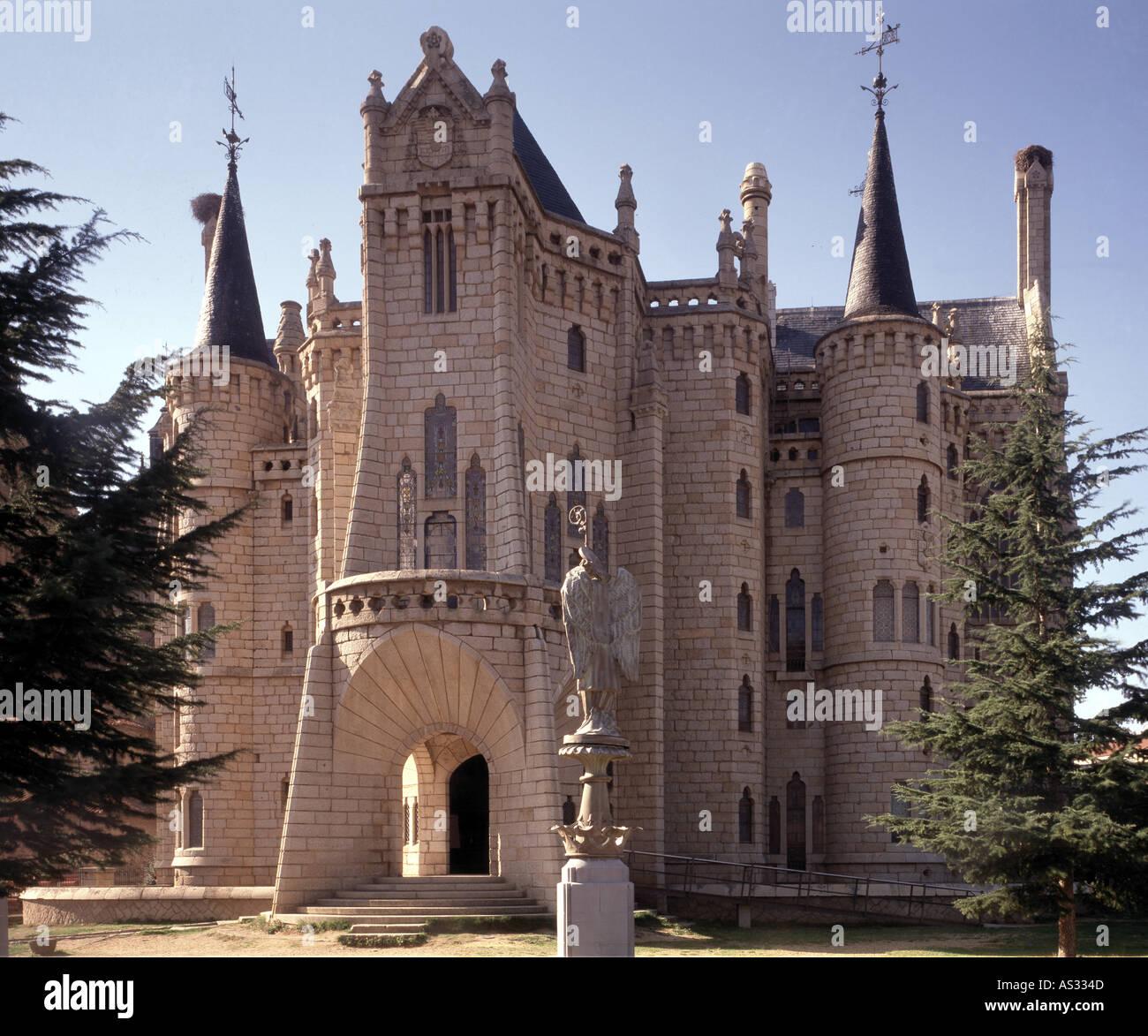 Architektur Fassade astorga bischofspalast fassade architekt antonio gaudi cornet