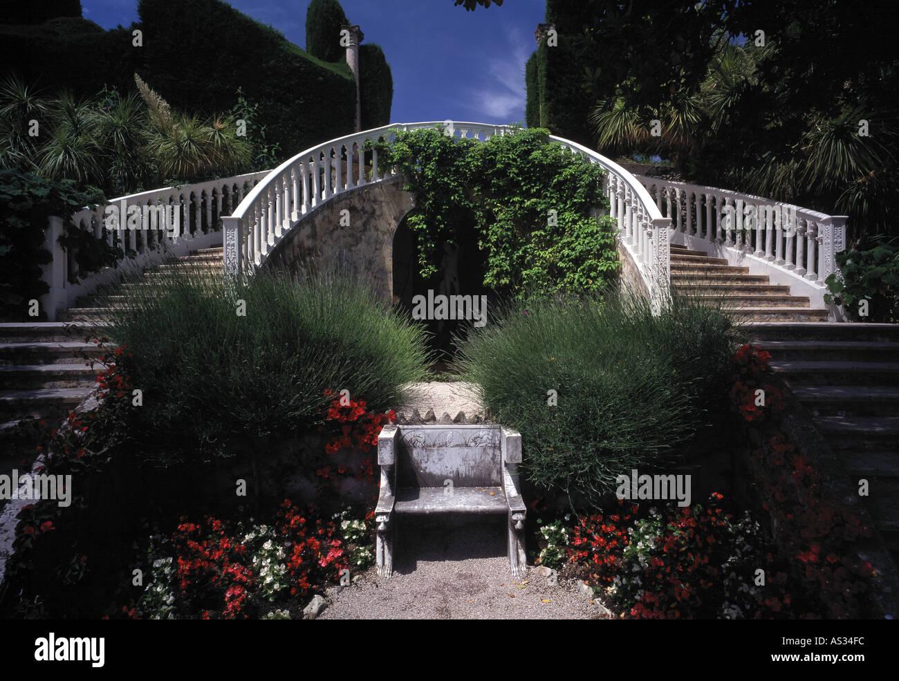 Great Cap Ferrat, Villa Ephrussi De Rothschild, Ansicht Der Gartenanlage, Treppe