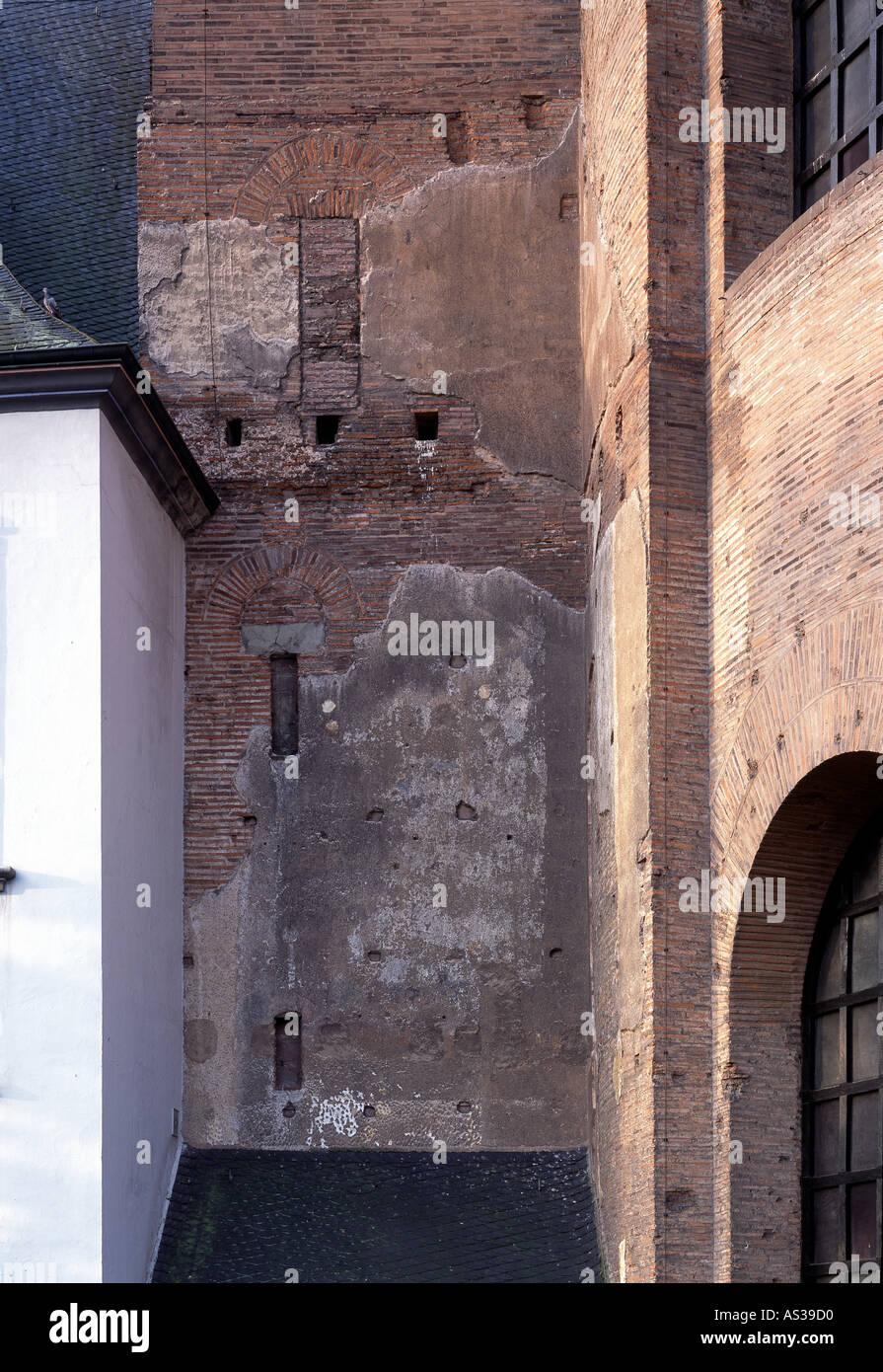 Raumausstatter Trier trier basilika römische putzreste östlich der apsis stock photo
