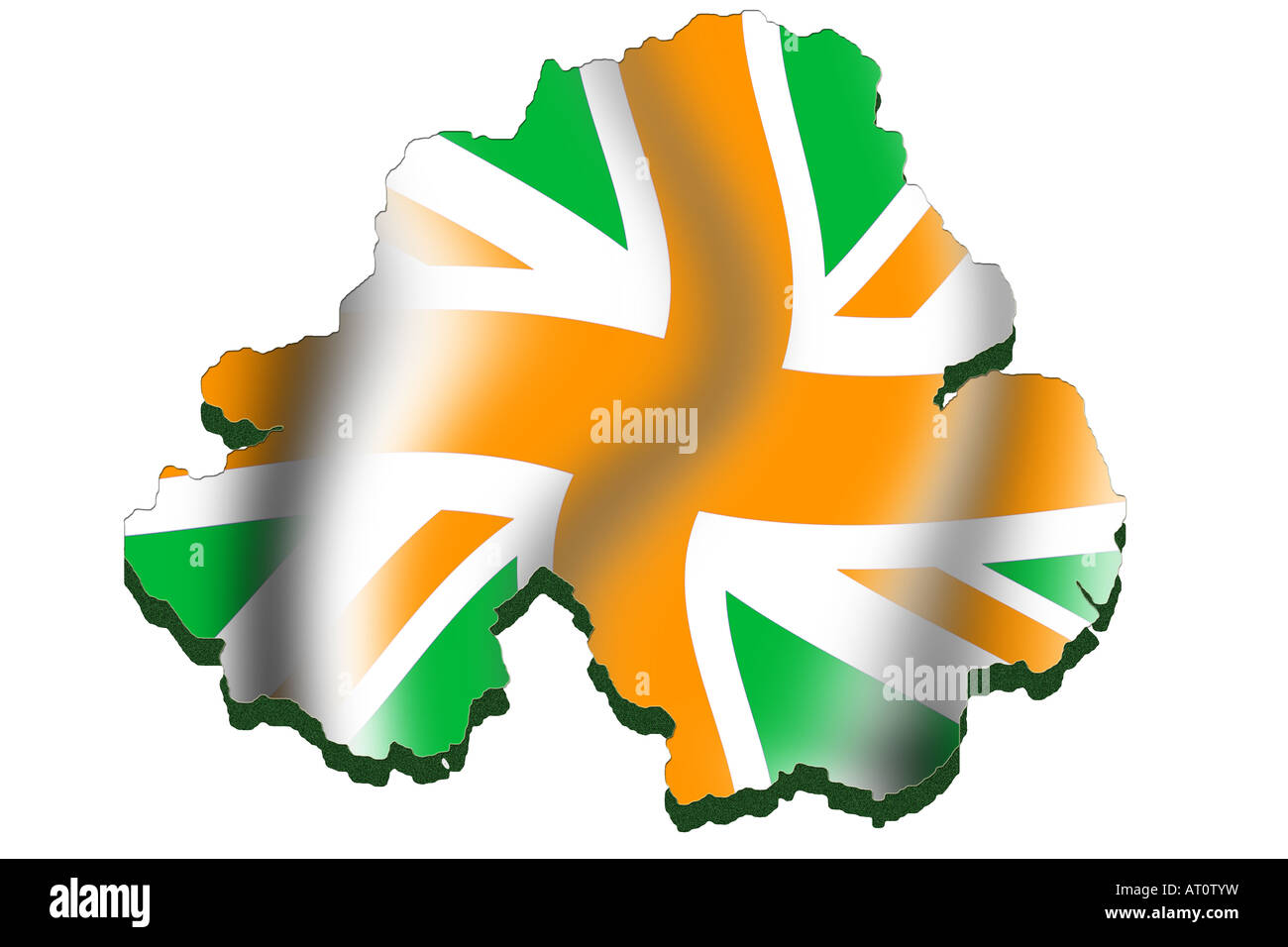 outline map and flag of northern ireland modified flag making