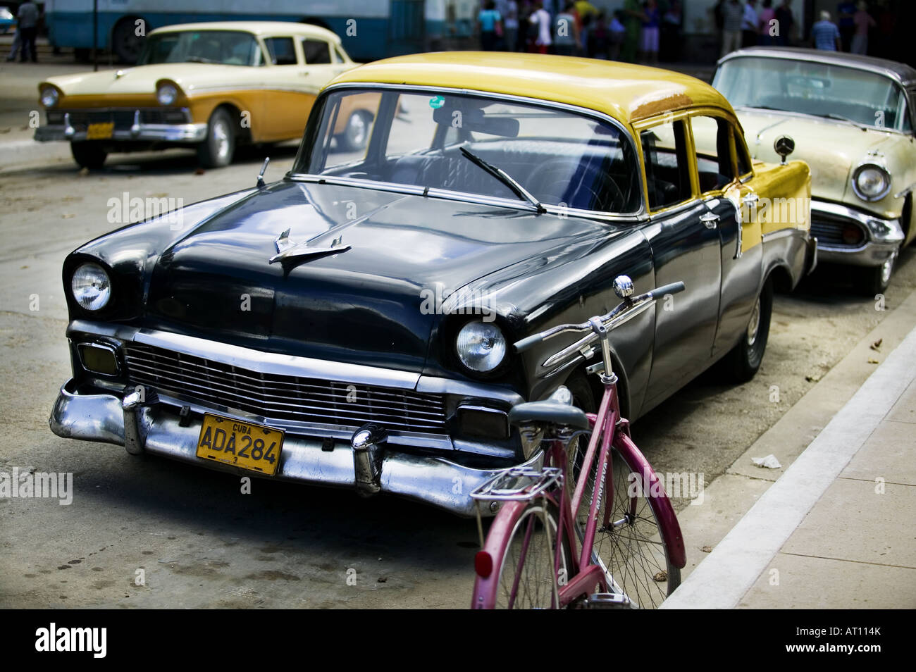 Old American Chevy (Chevrolet) sits parked in Moran (Cuba ...