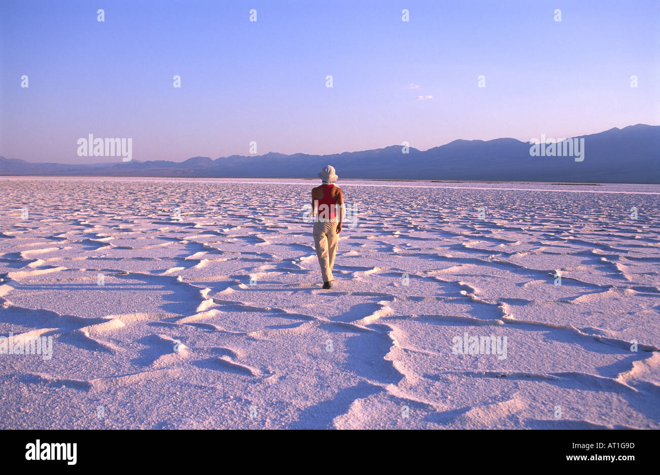 Woman Walking On Salt Flats At Below Sea Level Elevation Death - What is my sea level elevation