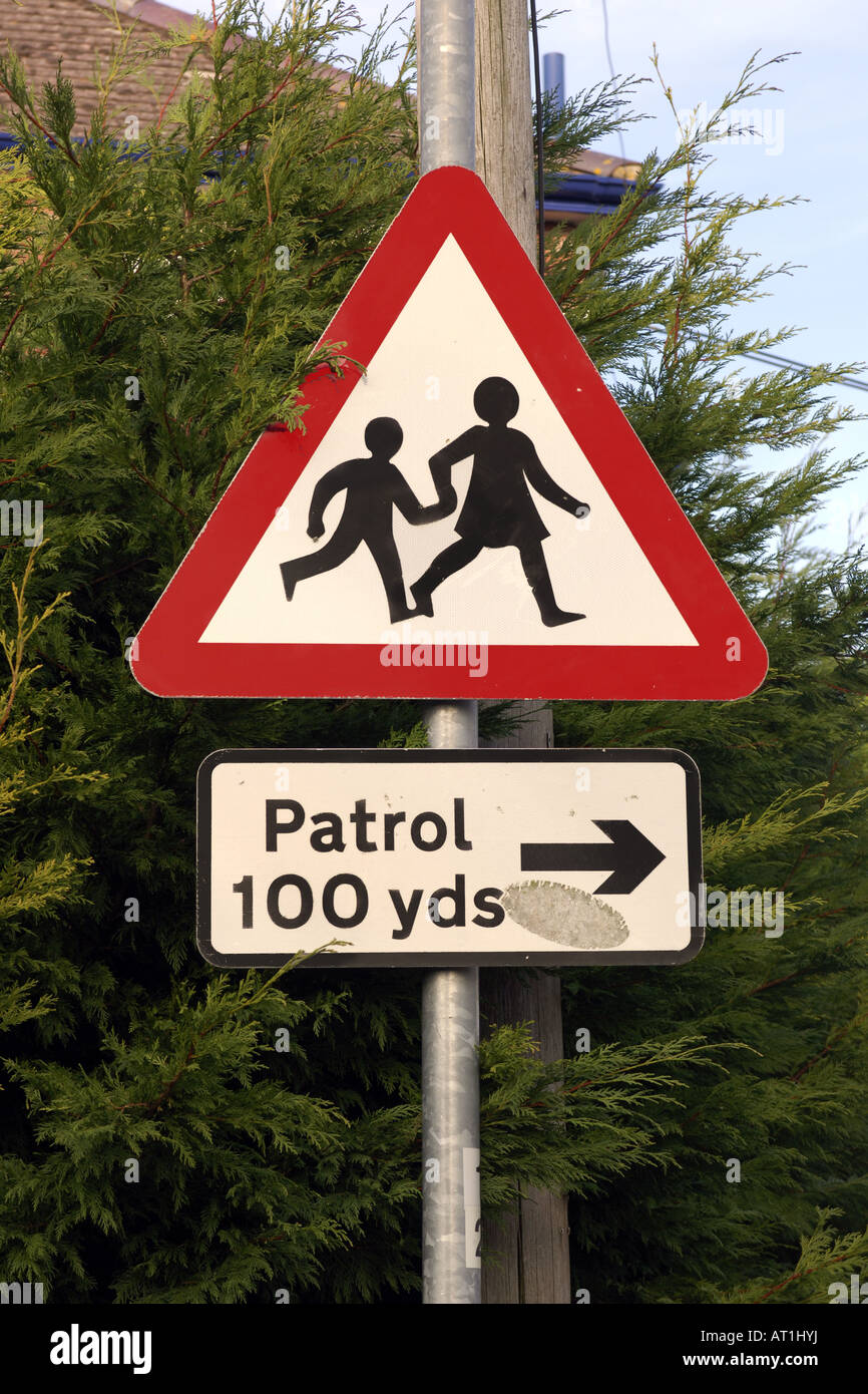 Triangle Road Signs >> English road sign triangle warning that their is a school ...