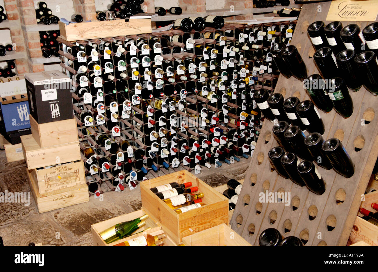 Wine cellar of Hotel du Vin Bristol England UK Stock Photo, Royalty ...