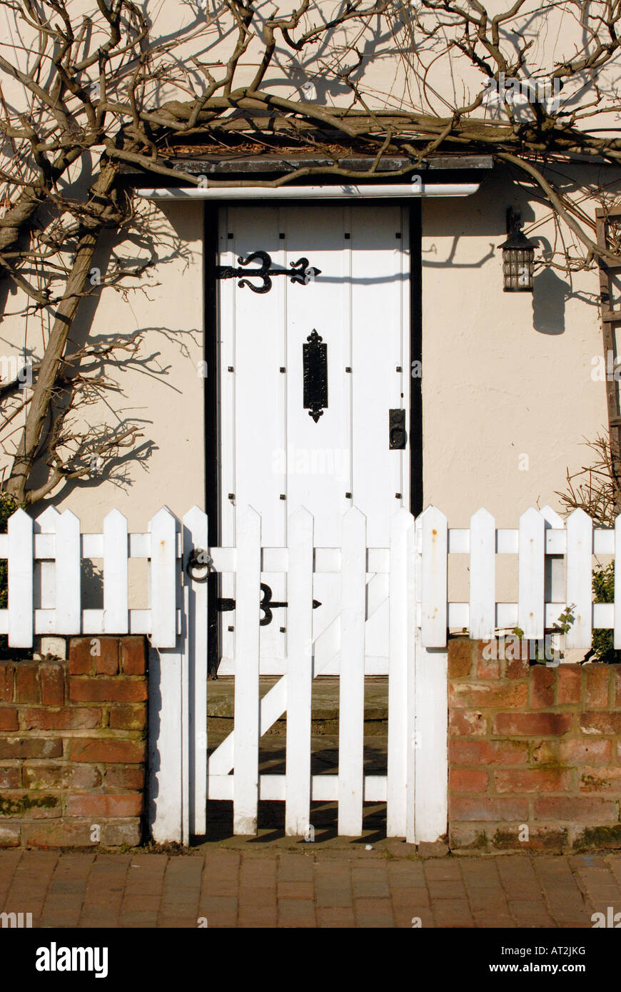 The Front Door Of A Typical Picturesque English Country Cottage With Stock Ph