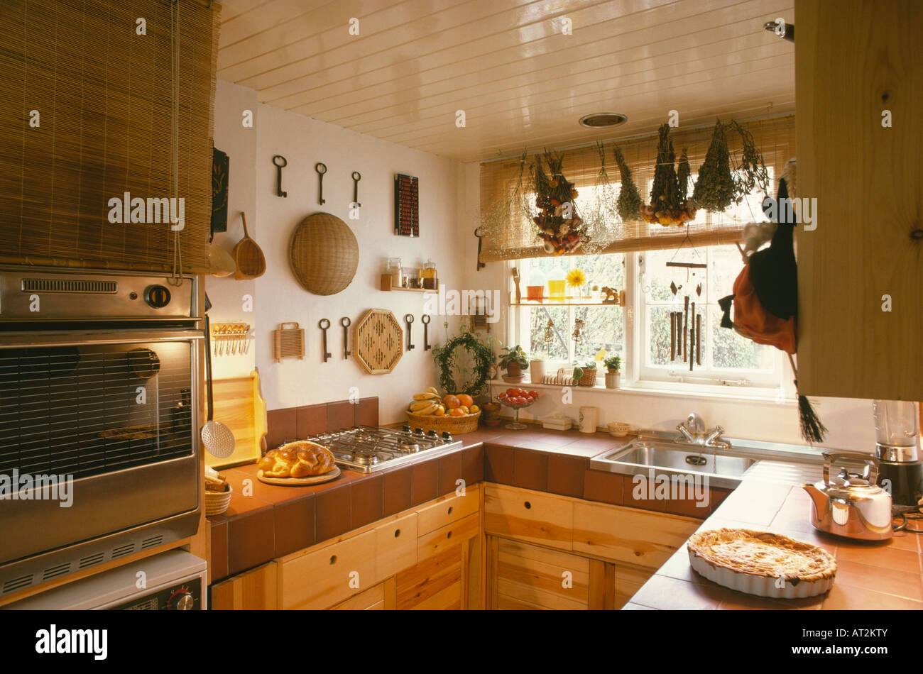Small Fitted Kitchen Pine Fitted Kitchen Stock Photos Pine Fitted Kitchen Stock
