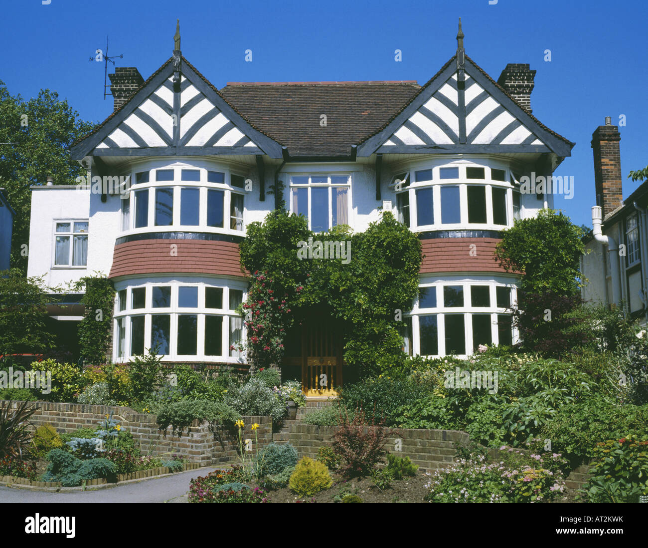 Houses With Bay Windows double fronted detached thirties house with bay windows stock