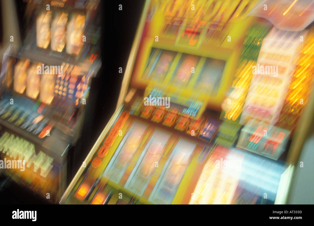 Arcade Money Machine Lucky Luck Random Two Moved Exposure Blurred