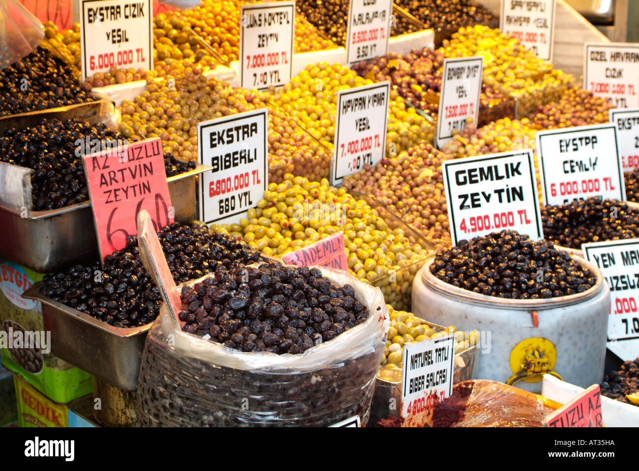 Different types of olives at the spice market in istanbul for City indian dining ltd t a spice trader