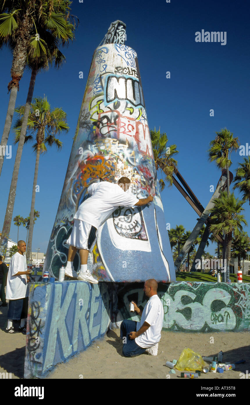 Taggers Practice Their Artistic Skills On Various Concrete Structures In  Venice, Southern California  Artistic Skills
