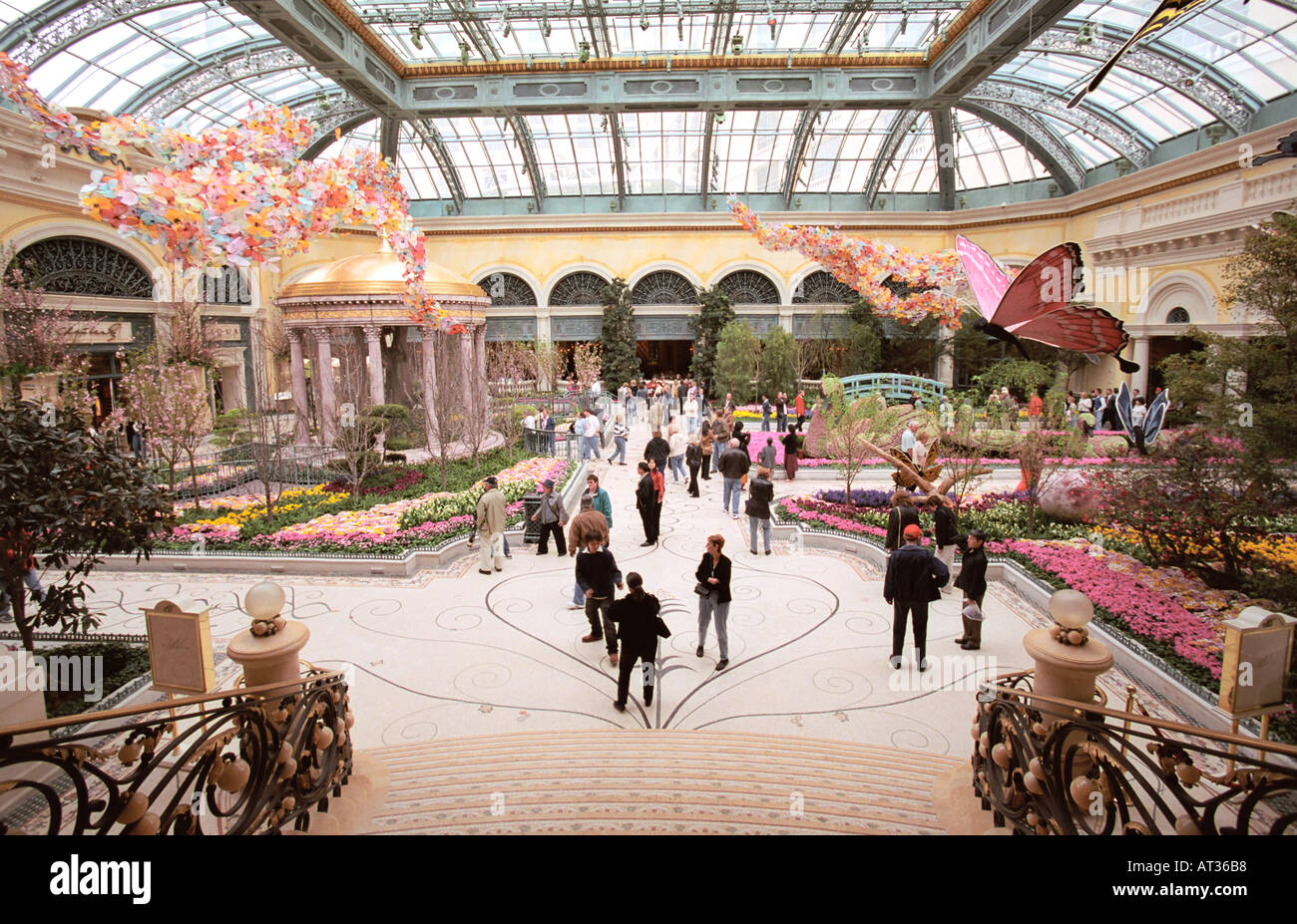 Conservatory And Botanical Garden Inside Bellagio Hotel Las Vegas Nevada USA