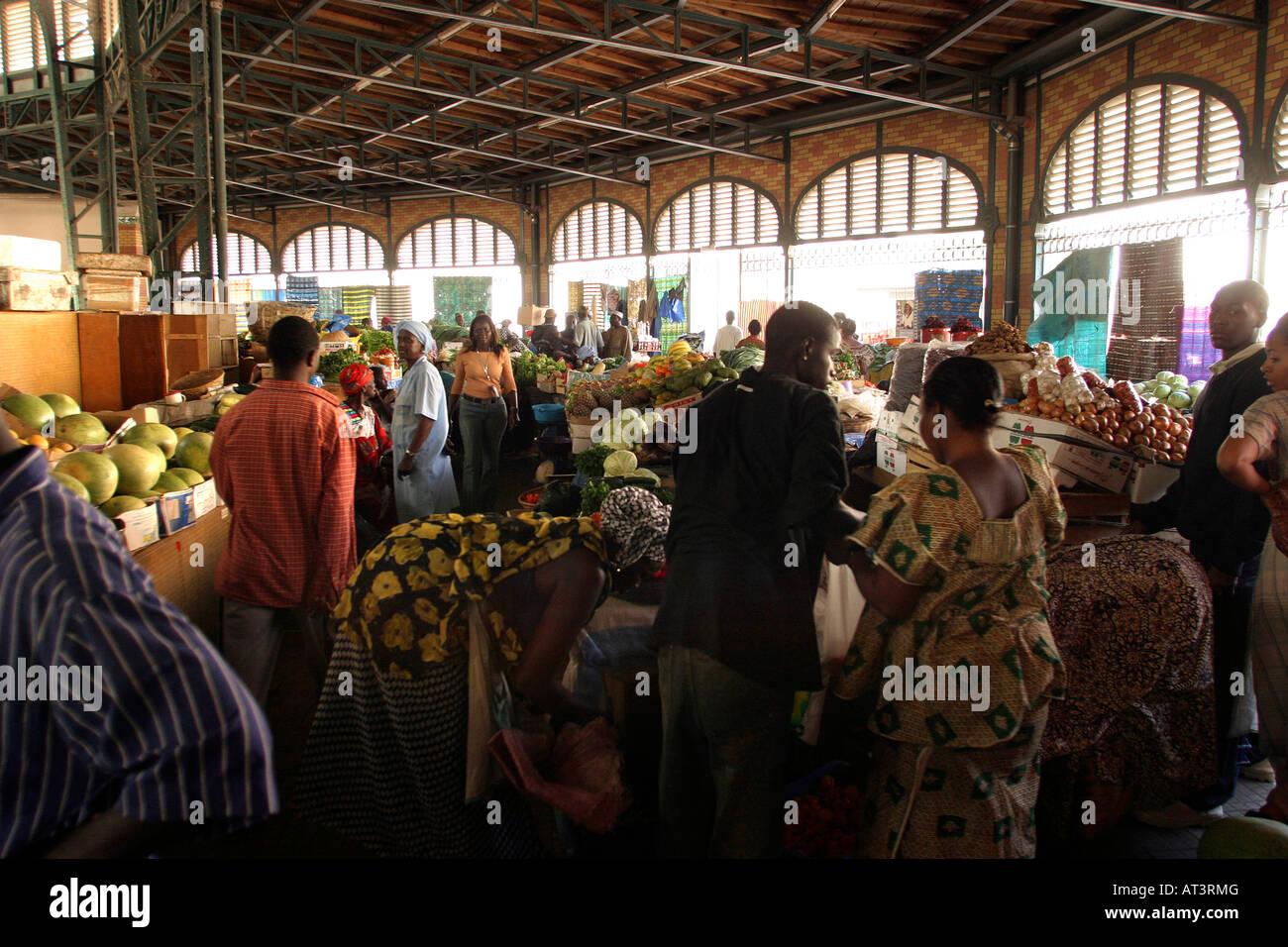 Senegal Dakar Central Marche Kermel Market interior Stock Photo, Royalty Free Image: 16192863