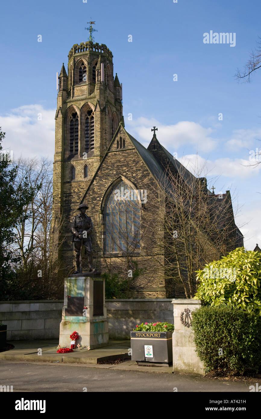 War memorial in front of St Paul's church. Heaton Moor ...