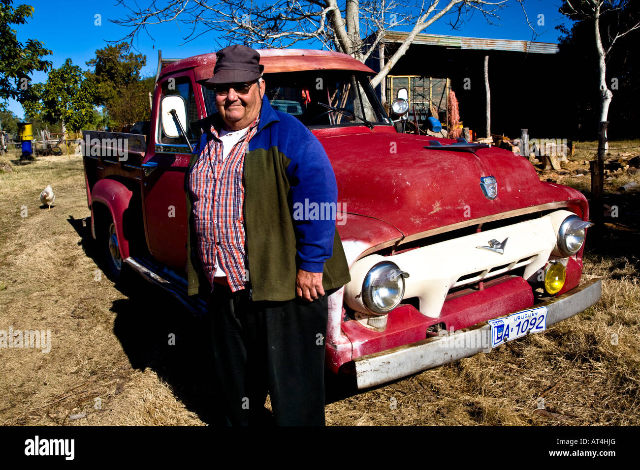 Old and rare cars are abundant in Uruguay Stock Photo, Royalty ...