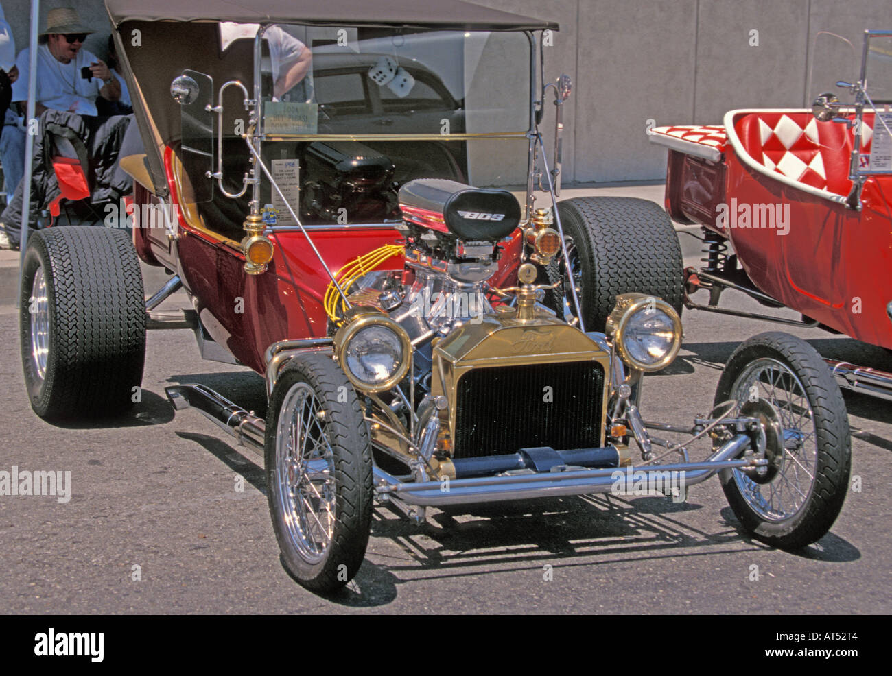 Red and Gold Ford V8 Hot Rod Stock Photo, Royalty Free Image ...