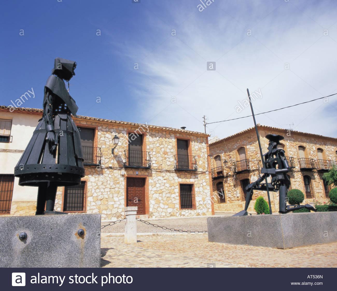 Don Quichotte a Dulcinee, Don Quixote, statue, Juan Carlos I ...