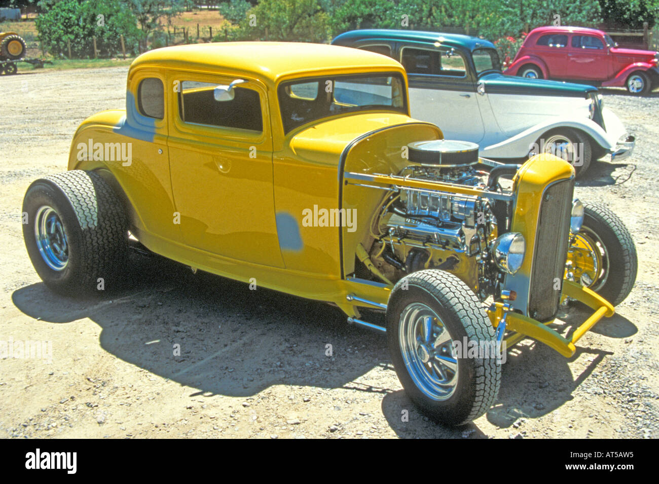 Yellow V8 hot rod coupe Stock Photo, Royalty Free Image: 9261332 - Alamy