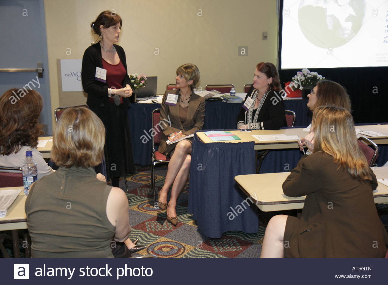 women s congress business career networking w speaker stock stock photo women s congress business career networking w speaker