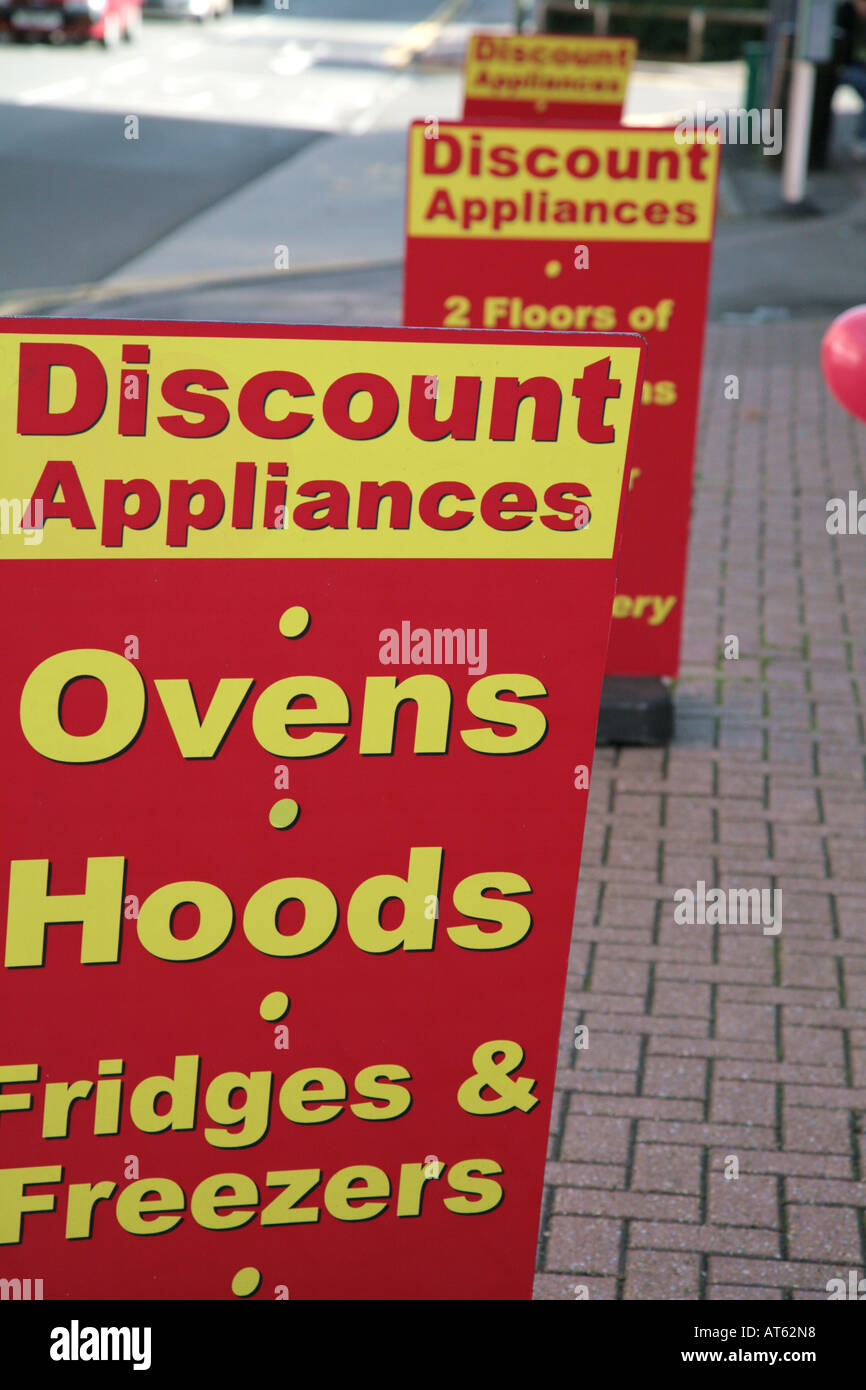 Appliances Discount Discount Appliances Signs Stock Photo Royalty Free Image 9265111
